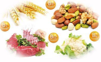 Продукты с витамином группы Б