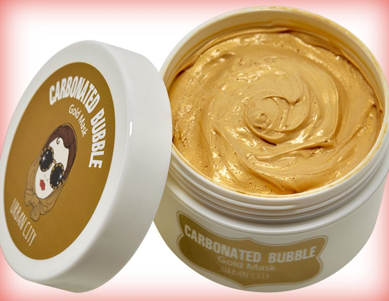 Urban dollkiss city carbonated bubble gold mask