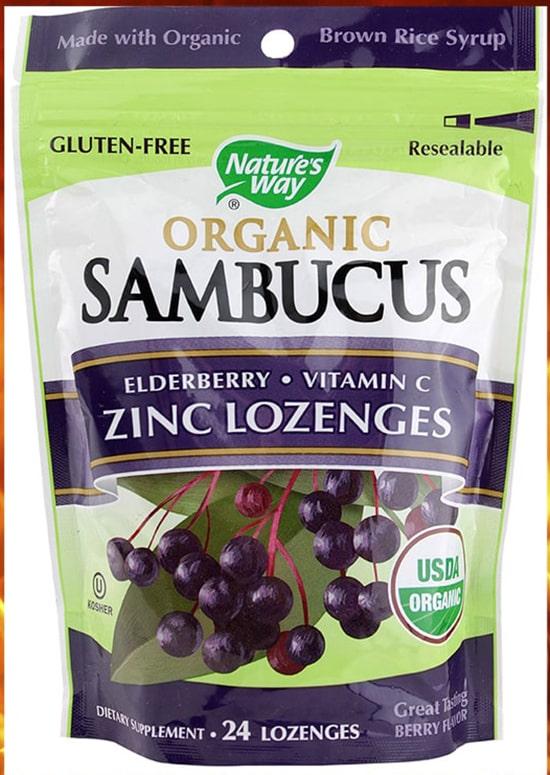 Натуральный препарат Nature s way organic sambucus zinc